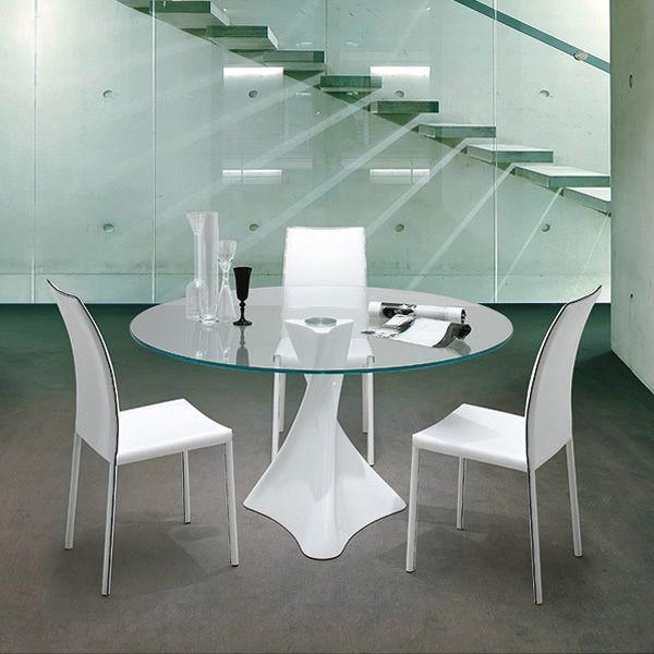 La defense 8045 tavolo rotondo tonin casa in agglomerato for Tavolo marmo design