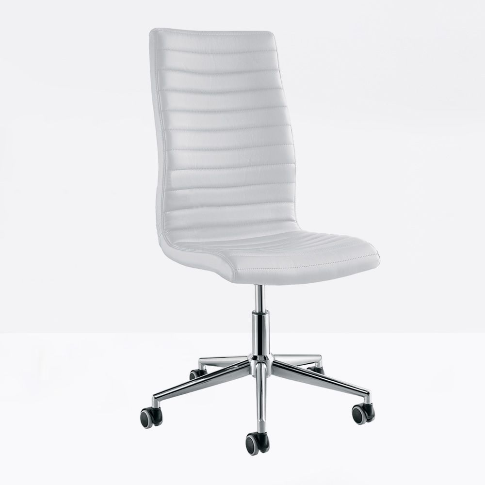 istar a h henverstellbarer und drehbarer b rostuhl midj aus metall sitz aus leder stoff oder. Black Bedroom Furniture Sets. Home Design Ideas