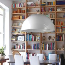 Cupole - Lampe à suspension Slide en polyéthylène, en différentes couleurs et dimensions, aussi avec LED