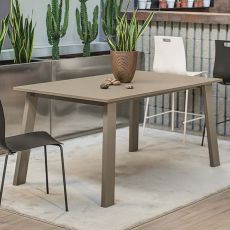 Killeen 42.64 - Extendable table, 140 x 90 cm, in metal, with top in laminate or glass, available in different colours