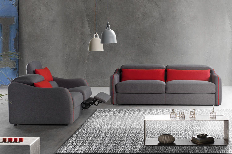 trifoglio r 2 oder 3 sitzer sofa in verschiedenen bez gen und farben verf gbar mit relax. Black Bedroom Furniture Sets. Home Design Ideas