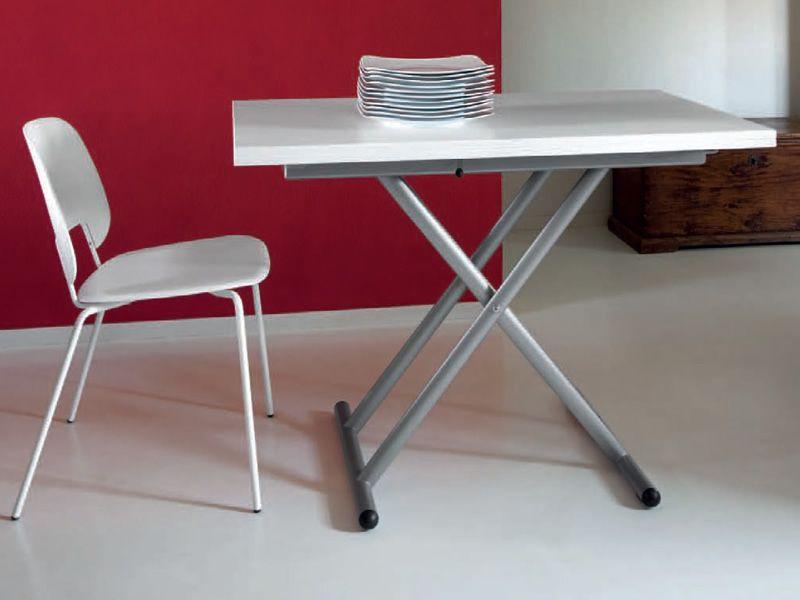 Sprite table domitalia en m tal avec plateau en m lamine - Table reglable en hauteur avec rallonge ...