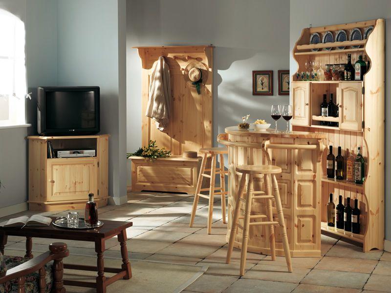 Av301 taburete r stico en madera de pino disponible en for Taburetes de madera rusticos