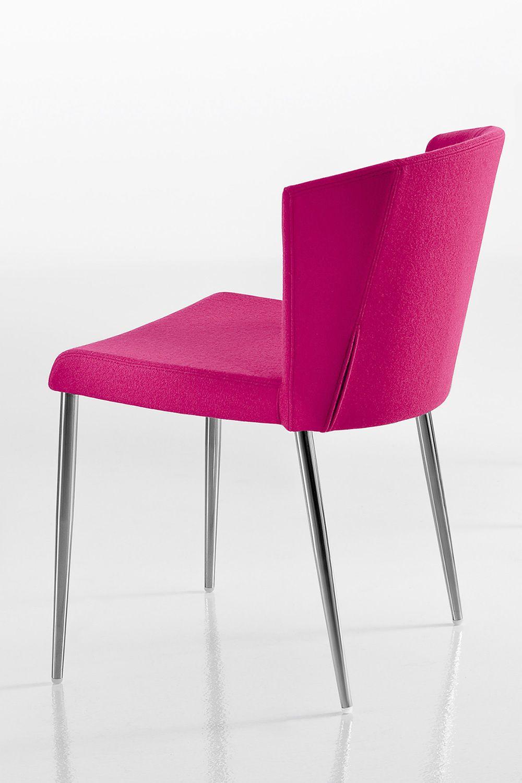 So chic sedia di design chairs more in metallo con for Sedia di design
