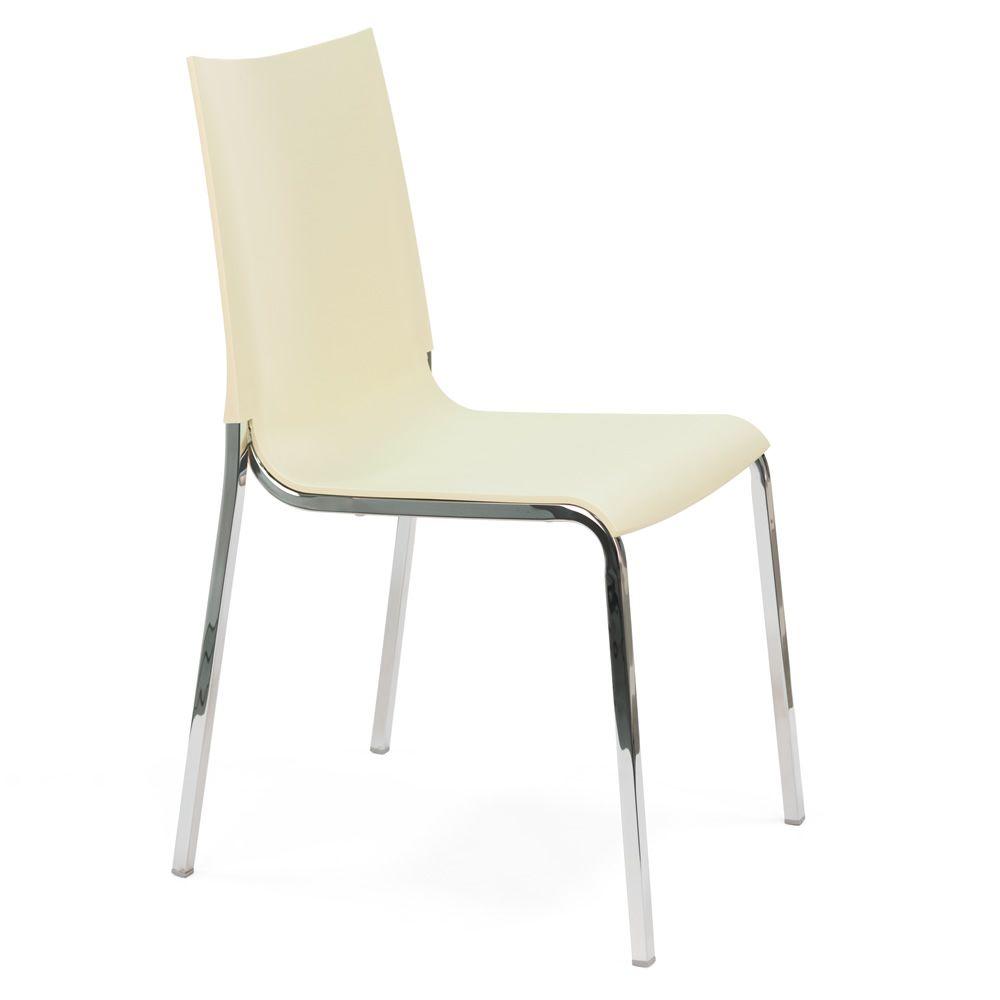 Eva chaise empilable de bontempi casa en aluminium avec - Chaise metal couleur ...