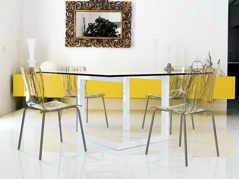 Hip silla de colico en metal apilable con asiento en metacrilato transparente o decorado - Sillas de metacrilato transparente ...