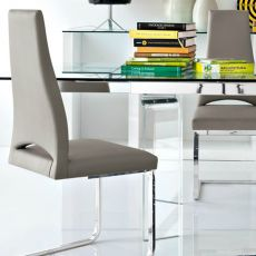 CS1380 Juliet - Calligaris metal chair with lether, fabric or imitation leather covering
