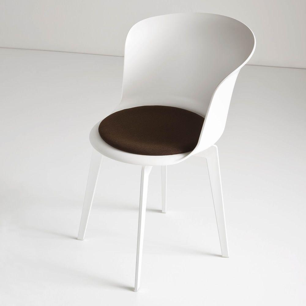 Epica sedia di design in tecnopolimero anche girevole for Sedia design bianca