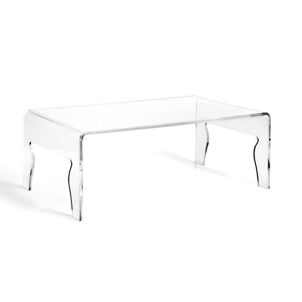 naif table basse en mthacrylate transparent dimension l - Table Basse Dimension