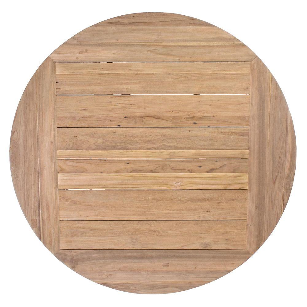 Bali table en teck avec plateau ronde 160cm diam tre for Diametre exterieur