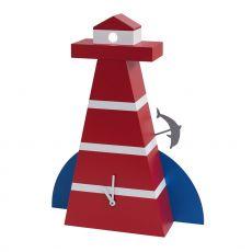 Dolphin - Orologio di design in legno, diversi colori disponibili