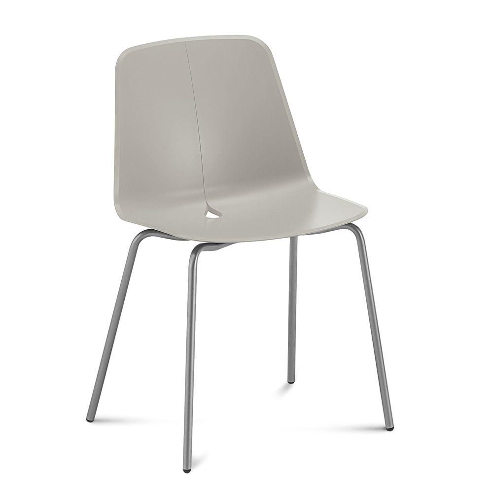 Dot chaise domitalia en m tal assise en polypropyl ne ou avec rev tement e - Chaise en polypropylene ...