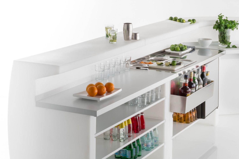 Bancone Bar Da Giardino igloo - bancone bar modulare in polietilene, con workstation