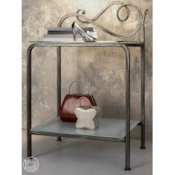 Toledo - Comodino in ferro battuto con ripiani in vetro, diversi ...