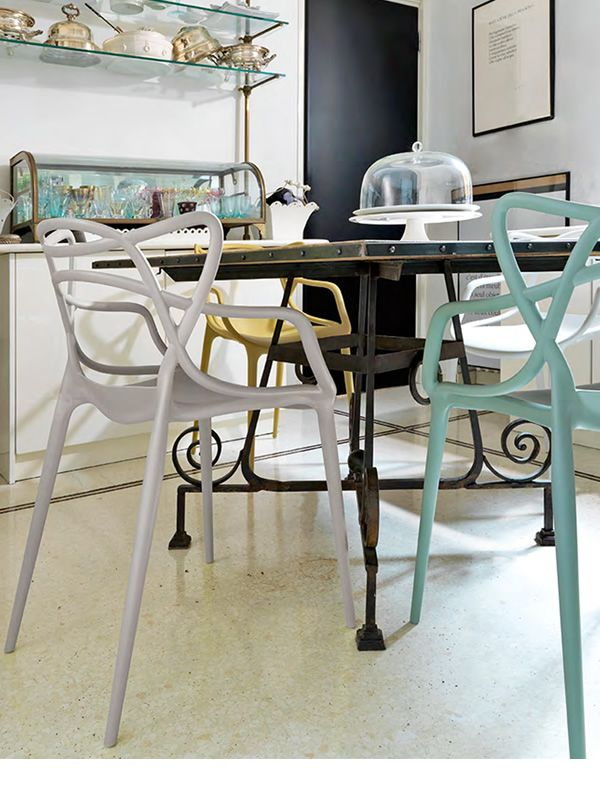 Masters poltroncina kartell di design in polipropilene for Sedie design kartell