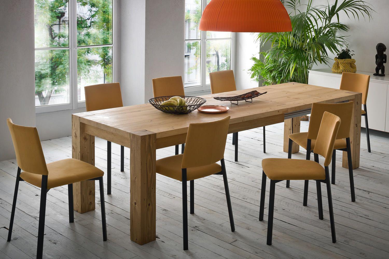 Arcadio tavolo moderno in legno fisso o allungabile for Tavolo in legno design