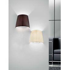 FA2960P - Lampada da parete in metallo e tessuto, diversi colori disponibili