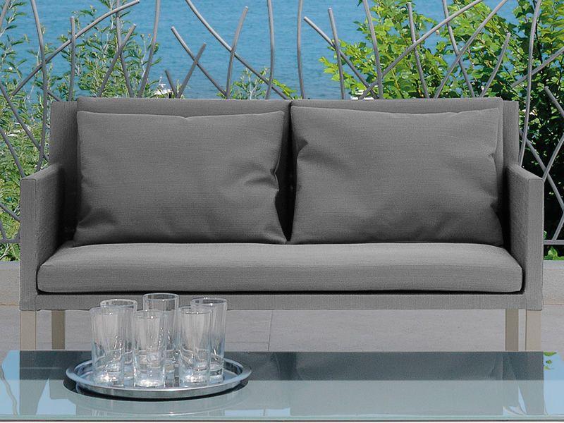 Step set ensemble de jardin design canap 2 fauteuils et table basse en m tal for Canape jardin aluminium