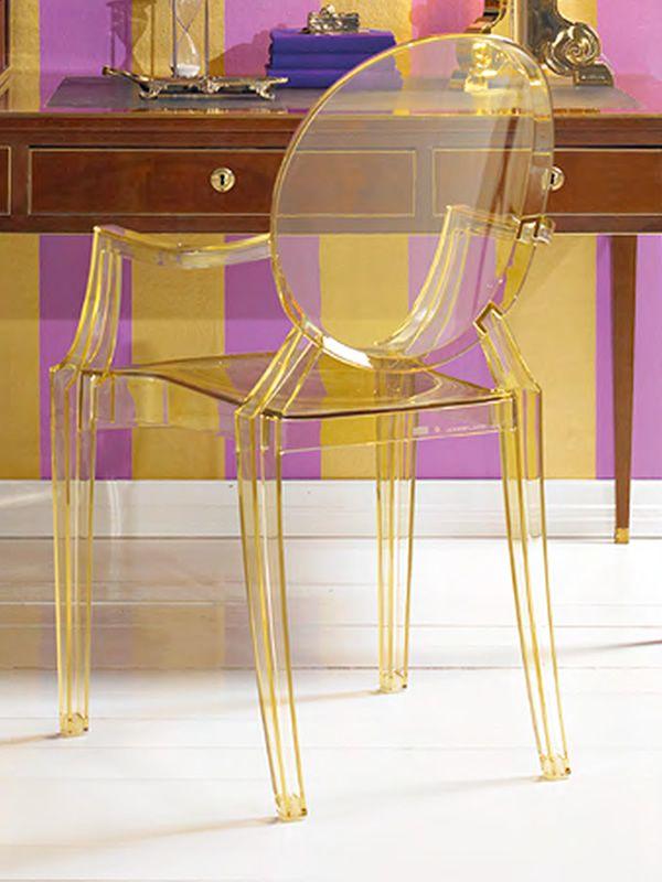 louis ghost fauteuil kartell design en polycarbonate transparent ou color empilable aussi. Black Bedroom Furniture Sets. Home Design Ideas