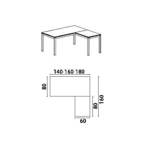 Office x421v bureau pro avec plan en verre et lot for Bureau 80x60
