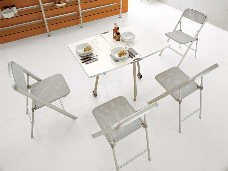 Latest cb alu sedie pieghevoli in metallo e rete grigia for Sedie nuovo design