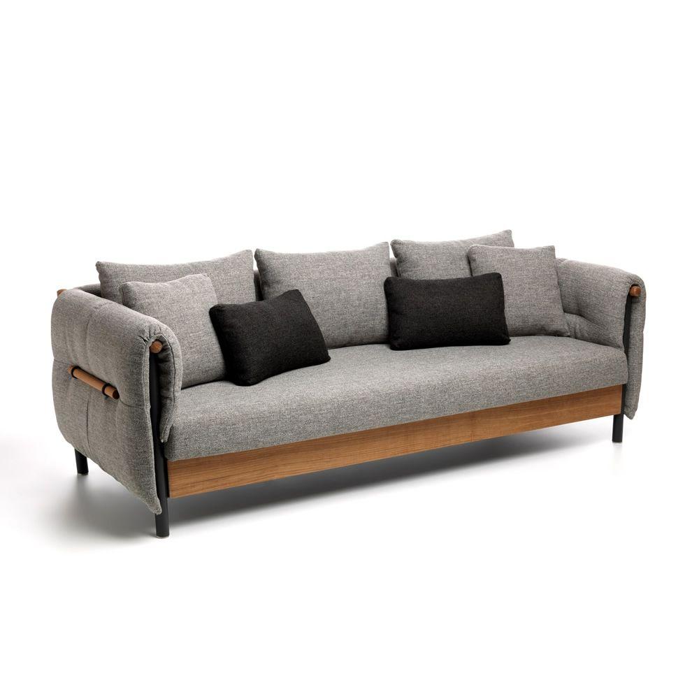 Domino sof para jard n de teca y aluminio desenfundable for Sofa jardin oferta