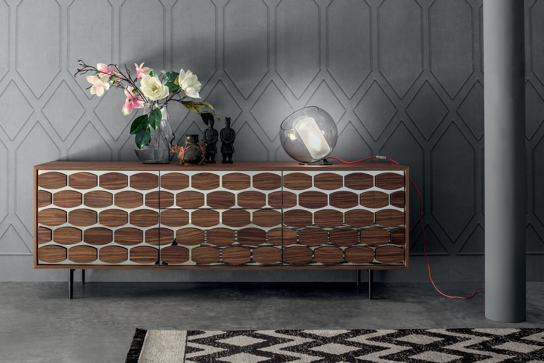 honey 6112 tonin casa sideboard made of metal and wood. Black Bedroom Furniture Sets. Home Design Ideas
