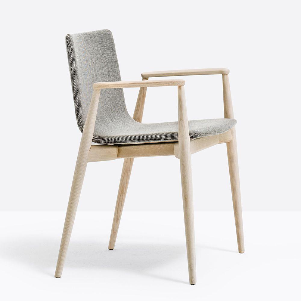 malm 395 designer sessel pedrali aus eschenholz sediarreda. Black Bedroom Furniture Sets. Home Design Ideas