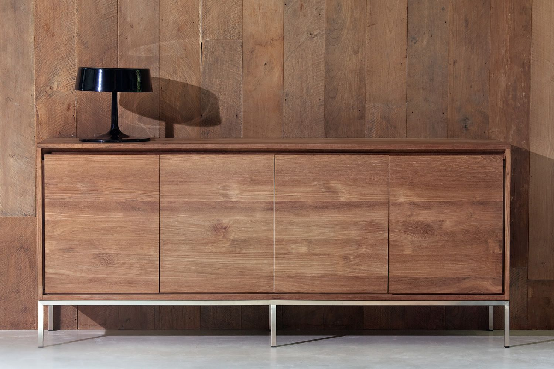 essential ethnicraft wooden sideboard metal legs. Black Bedroom Furniture Sets. Home Design Ideas