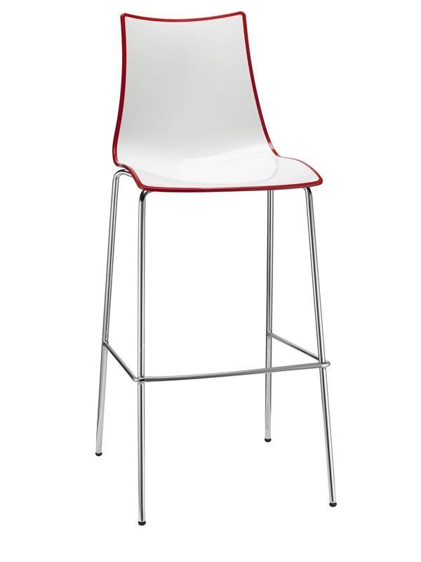 zebra s bic 2560 stuhl aus verchromtem metall und zweifarbigem polymer sitzh he auf 65 oder 80. Black Bedroom Furniture Sets. Home Design Ideas
