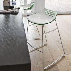 CS1033 Jam - Sgabello Calligaris in metallo, seduta in tecnopolimero, altezza seduta 65 o 80 cm
