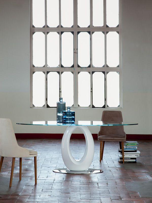 origine mesa fija de mrmol aglomerado en acabado blanco brillante