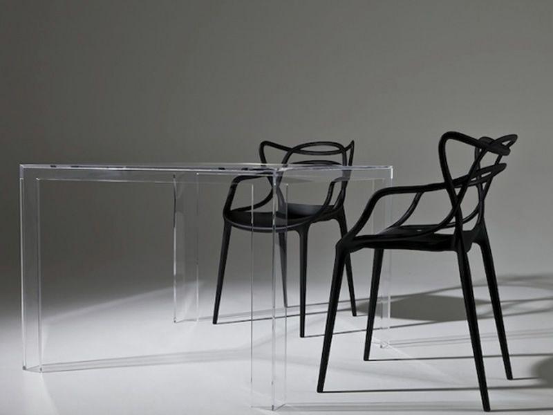 Sedie E Tavoli Kartell.Invisible Table Tavolo Kartell Di Design In Polimero 100x100 Cm