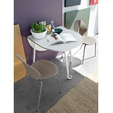 CB4062-O Blitz - Connubia - Calligaris folding table made of metal and melamine, with wheels