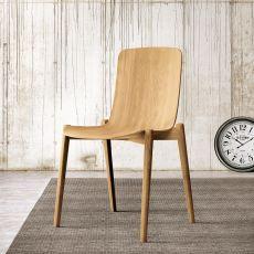 Dandy - Chaise Colico en bois de chêne, disponible dans différentes couleurs