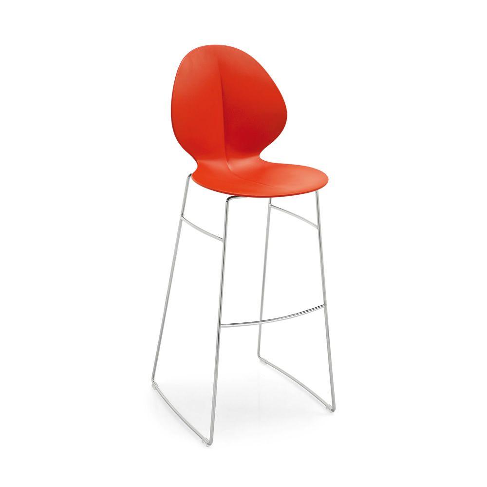 Avec assise en polypropyl ne en couleur rouge hauteur assise 80 5 cm - Mousse pour assise canape ...