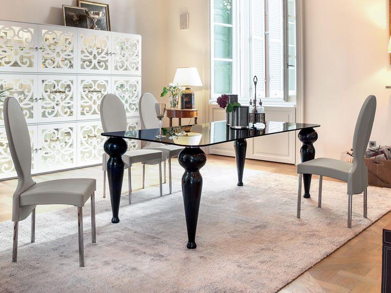 Bexley 8029 tavolo rettangolare tonin casa in for Tavolo legno piano marmo