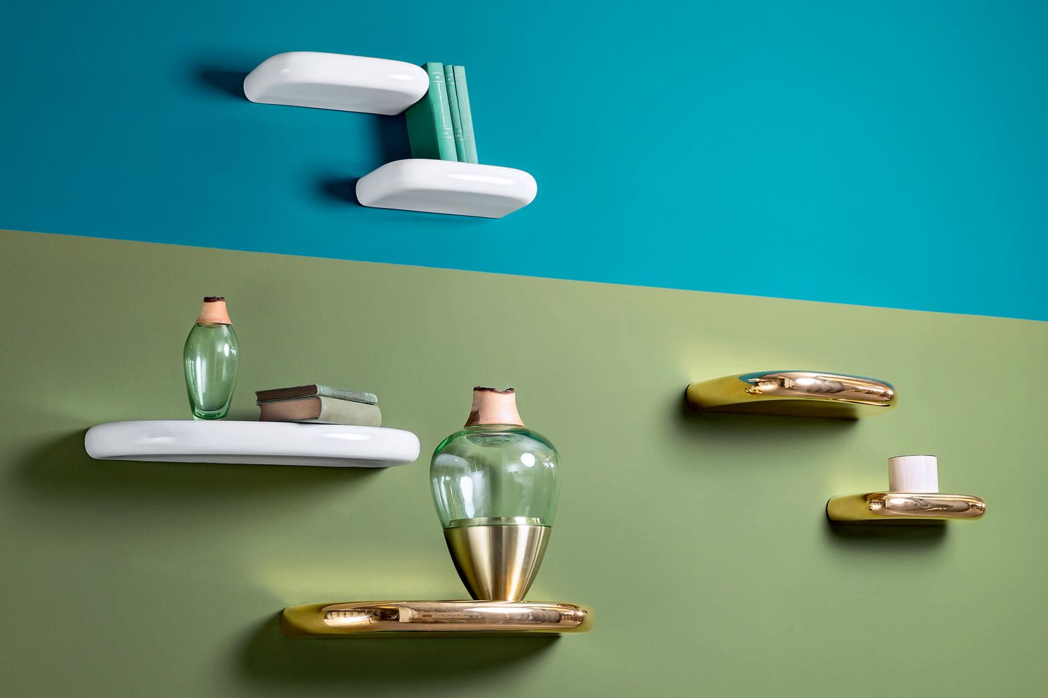 Pinna: Miniforms wall shelf made of ceramic, different sizes ...