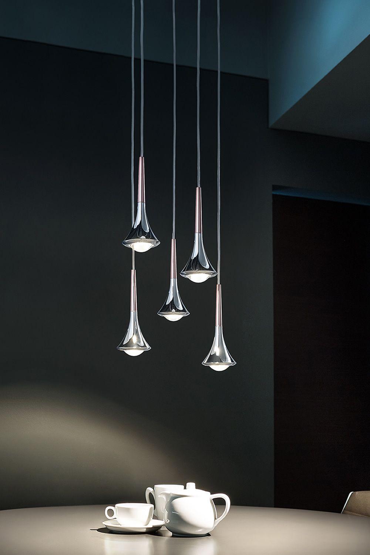 Rain lampada a sospensione di design in metallo led for Lampade designer