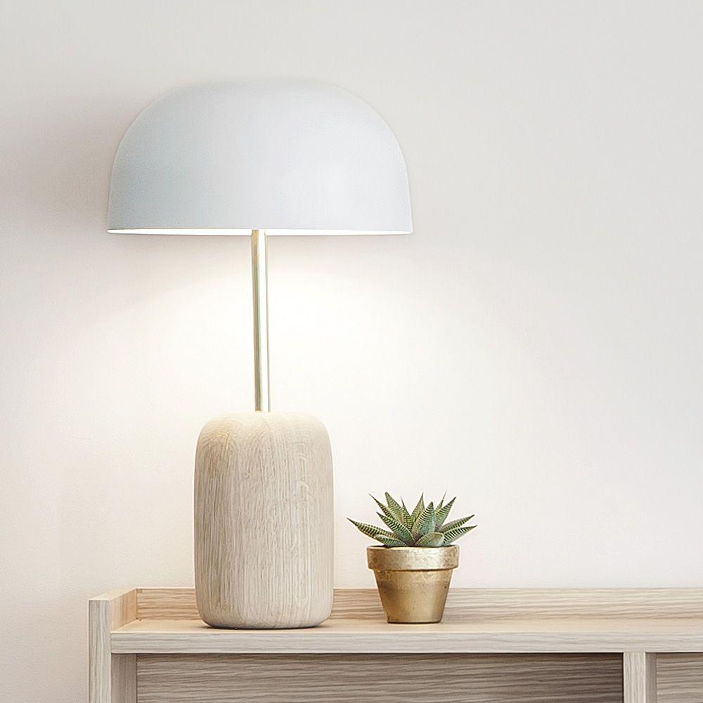 nina tischlampe aus holz und metall led sediarreda. Black Bedroom Furniture Sets. Home Design Ideas
