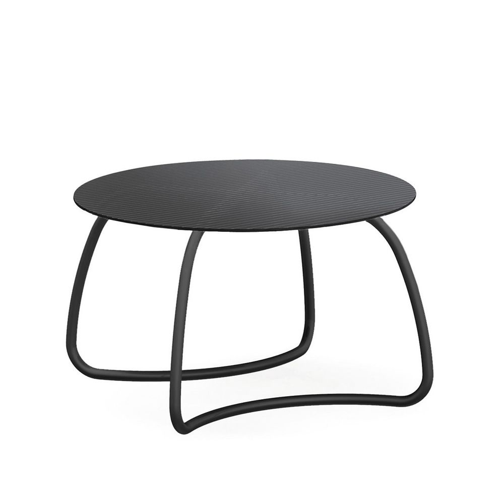 round outdoor metal table. Loto Dinner R - Metal Table In Anthracite Grey Varnished, Round Top Of 120 Cm Outdoor