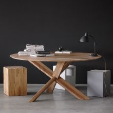 Circle - Tavolo rotondo Ethnicraft in legno, diverse finiture disponibili, diametro 163 cm