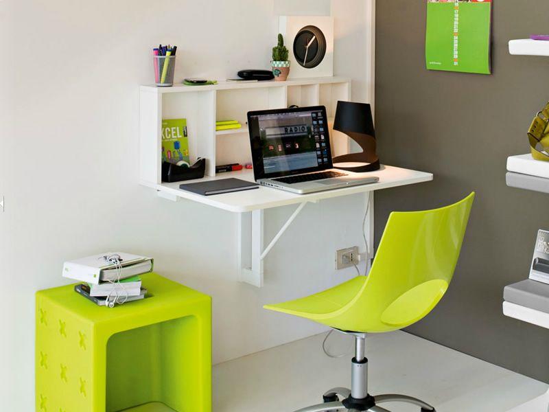 Cb4061 spacebox tavolo pieghevole da muro connubia for Tavolo da studio