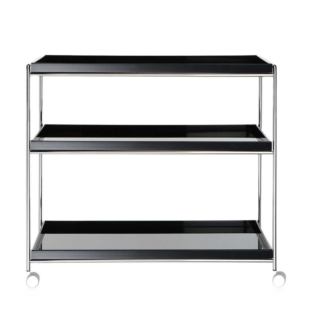 trays trolley design servierwagen von kartell aus. Black Bedroom Furniture Sets. Home Design Ideas