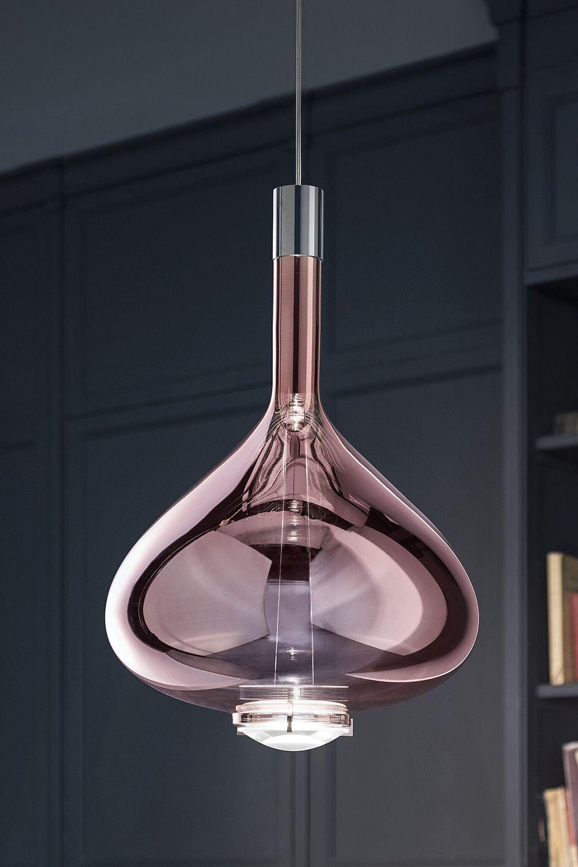 Lampade vetro soffiato: lampada a sospensione in vetro soffiato ...