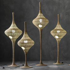Spin - Lampada da terra Gervasoni, in midollino, diverse misure disponibili