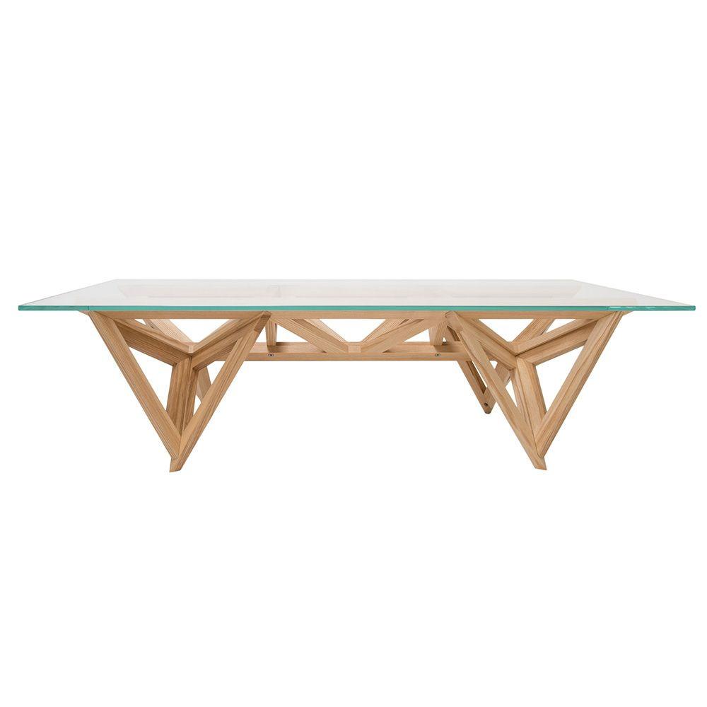 Schegge-t - Tavolino di design Valsecchi in legno con piano in vetro  Sediarreda.com