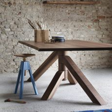 Keplero W - Miniforms table in wood, available in different dimensions