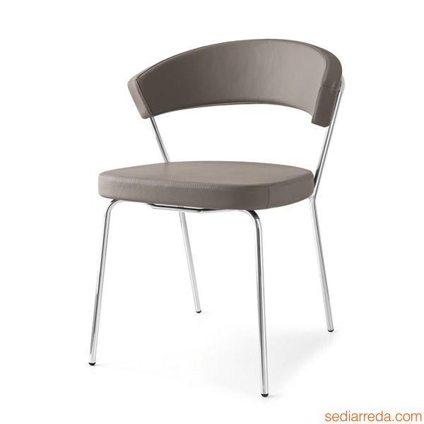 Cb1084 new york pour bars et restaurants chaise en m tal - Chaise metal cuir ...