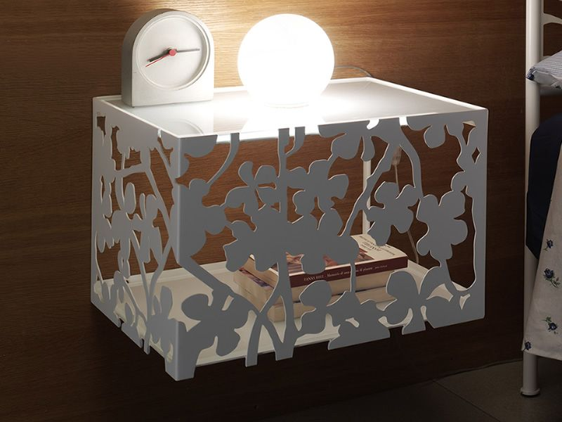 flower c table de nuit suspendue en fer en diff rentes couleurs sediarreda. Black Bedroom Furniture Sets. Home Design Ideas